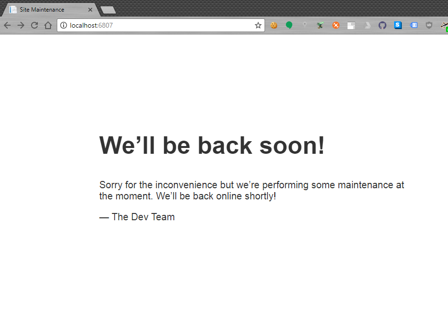 DbUp Web: Offline For End User